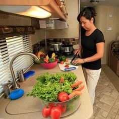 Favorite RV Kitchen Accessories: We posed the following question to our Everything-About-RVing.com Facebook Page Fans:  Aside from the Kitchen Appliances and Accessories your RV already