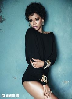 Rihanna Glamour shoot