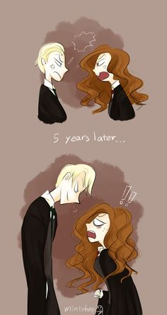 Draco Malfoy and Hermione Granger hahahahaha Growth Spurt by mintyhap.deviantart.com on @DeviantArt