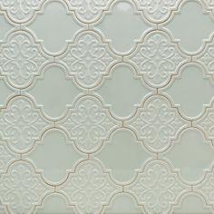 byzantine florid arabesque alice ceramic tile arabesque tile shop by tile shape and pattern - Arabesque Tile Backsplash