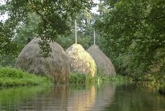 Hay stacks in the Spreewald | Heuhaufen, Spreewald - Foto: Ralf Salecker