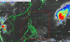 Satellite image as of March 31, 6:30 pm, from PAGASA website