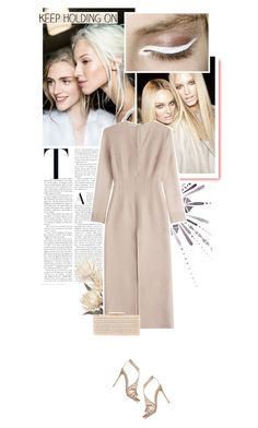 """Untitled #1035"" by eve-angermayer ❤ liked on Polyvore featuring Emilia Wickstead, Gianvito Rossi, Dune, gold, beige, nude, eveangermayer and angermayerevelin"