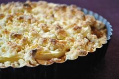 Apple Crumble mit Marzipan & Zimt .. Küchenzaubereien Marzipan, Tea Time, A Food, Macaroni And Cheese, Sweets, Ethnic Recipes, Desserts, Cakes, Apple Strudle