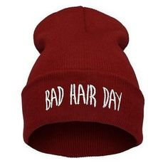 Bad Hair Day Beanie Hat. Stocking stuffers for teens. Cotton Hat 0b8ebd95a93