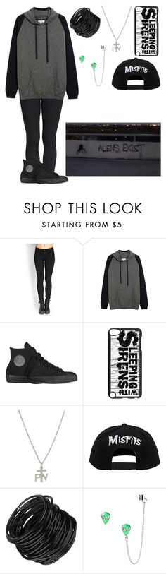 """""""Comment 'Is it Hi or hey?' To be on my Taglist"""" by punk-rock-dreamer ❤ liked on Polyvore featuring Forever 21, Chinti and Parker and Converse"""