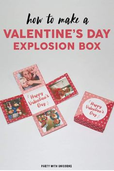 Looking for a fun Valentine Craft for kids? This exploding Valentine's Day box is just the thing. The post comes with a printable template and easy to follow instructions. This craft is a perfect Valentine gift . Valentine ideas for Kids | Valentine Gifts for Parents | Valentine Gifts for Teachers | Valentine Gifts for Grandparents #valentines Kinder Valentines, Easy Valentine Crafts, Valentine Gifts For Kids, Valentine Day Boxes, Happy Valentines Day, Valentine Ideas, Valentine Party, Valentinstag Party, Crafts For Kids