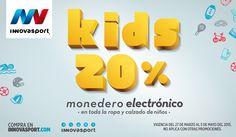 20% en monedero electrónico en ropa y calzado de niños. Hasta el 5 de mayo.