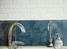 Перекраска, декор плитки, объемная плитка, плитка для кухни, кухня, своими руками