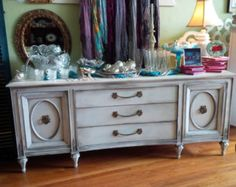 Lovely Painted Cottage French Provincial Dresser