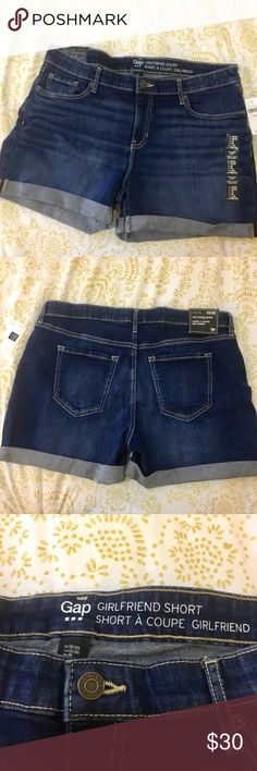 Gap Girlfriend Denim Shorts NWT!  Trendy denim mid rise shorts.   Relaxed fit & super comfy. GAP Shorts Jean Shorts