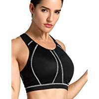 Women/'s High Impact Full Support Wire Free Padded Active Sports Bra
