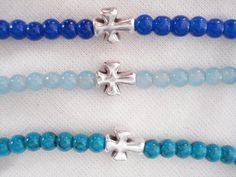 Men's bracelet Beaded friendship bracelet Cross by Poppyg on Etsy Baptism Favors, Baby Shower Favors, Stylish Jewelry, Unique Jewelry, Karma Bracelet, Cross Jewelry, Friendship Bracelets, Minimalist, Beaded Bracelets