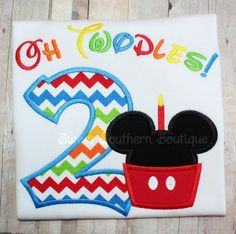 Mouse birthday shirt custom embroidered applique by SweetSouthernB