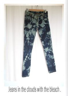 how to tie dye jeans with bleach