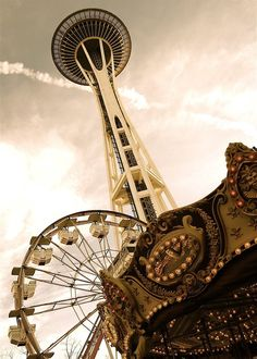 Seattle- the children of today will never be able to go on rides underneath the space needle :-( sad times good memories.
