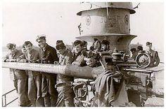Hardegen with his crew on the deck of U-123