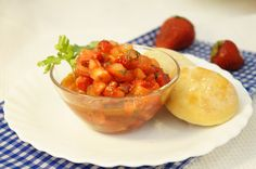 Клубнично-помидорный тартар