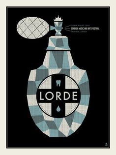 Lorde concert poster by Methane Studios