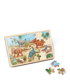 Take a look at this Dinosaurs Large Puzzle Set by T.S. Shure on #zulily today!