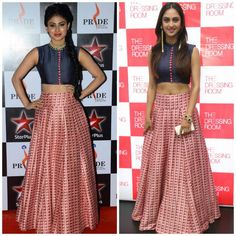 The Brahmarakshas actress Krystle Dsouza and Nagin actress Mouni Roy were both spotted different events in the exact same outfit. Both the pretty lad...