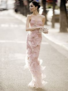 pink ruffles.  no way I could wear this, but I LOVE IT!