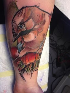 Tattoo von Freulein Fux, Eichelhäher, 8.11.2014