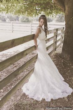 Southern Bride against fence | Flickr - Photo Sharing!