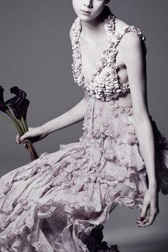 """Heavenly Creatures"" by Sølve Sundsbø for V Magazine #94, Spring 2015 - Alexander McQueen"