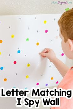 This letter matching I Spy alphabet activity is a fun and engaging way to teach letters to kids and develop fine motor skills! Preschool Literacy, Preschool Letters, Teaching Resources, Nanny Activities, Kindergarten Prep, Autism Resources, Literacy Skills, Early Literacy, Abc Centers