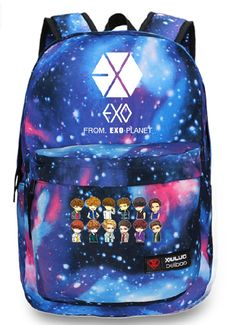 Kpop EXO Planet EXO-M EXO-K Luhan Starry sky backpack I really want thissssss