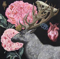 "Igor Baranov - ""Herbarium III,"" 39.4H x 39.4W x 0.8 in., Saatchi Art Artist, St. Petersburg, Russia."