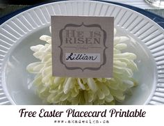 Easter Placecards - Free Printable, Two Colors Available - akadesign.ca
