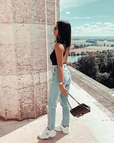 """OOTD Magazine on Instagram: """"What do you love about this look? @thanyaw — ✨ We used our OOTD - Vintage preset/filter ✨"""" Boyfriend Jeans, Mom Jeans, Spring Outfits Women, Kendall Jenner Style, Online Fashion Stores, Outfit Goals, Parisian Style, Apparel Design, High Waist Jeans"""