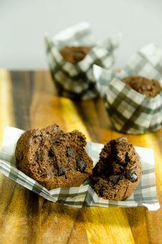 Healthy Whole Wheat Mocha Muffins