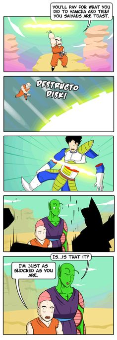 What everyone thought during the Vegeta saga...