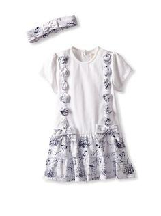 51% OFF Emile et Rose Baby Girl Dress and Hairband (Navy)