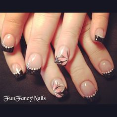 Pretty Black - Nail Art Gallery nailartgallery.nailsmag.com by nailsmag.com