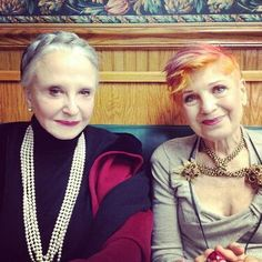 Elderly yet fashion minded! : )  Advanced Style Ladies  love this hope to be this stylist at their age.