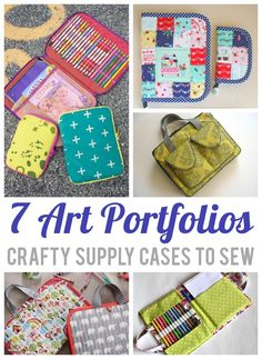 7 Art Portfolios: Craftsy Supply Cases to Sew. Crafty cases to sew. Sewing patterns for art portolios, craft cases and all sorts of fun storage to sew. Love these patterns!