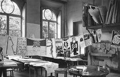 Atelier Populaire, ex-école des Beaux Arts, photo Marc Riboud, Paris, 1968