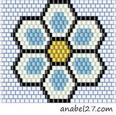 Brick stitch flower