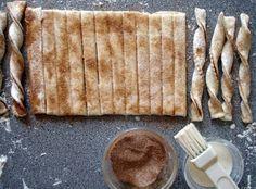 Puff pastry cinnamon twists