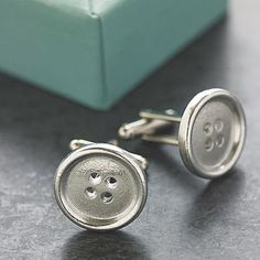 Solid Pewter Buttons cuff links