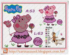 Pontinhos Mágicos: Gráfico da Peppa Pig.