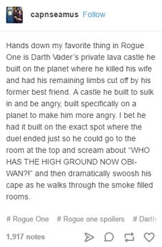 """#rogueone #sw This is alarmingly exactly what I thought, down to """"who has the higher ground now ?!"""""""