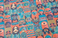 monster wrapping paper via nobrow.
