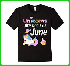 Mens Unicorns Are Born in June T-Shirt, Cute Unicorn Birthday Tee XL Black - Birthday shirts (*Amazon Partner-Link)