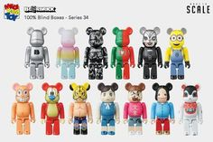 Bearbrick Series 34 by Medicom Toy Single Blind Box Single Only