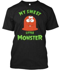 Little Monster!! Halloween T Shirts  Black T-Shirt Front
